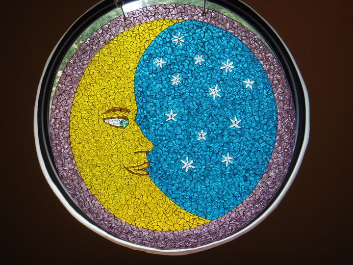 Mosaic Crescent Moon and Stars - The Mosaic Maniac