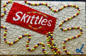 Skittles Candy Mosaic Wall Hanging