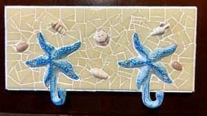 Starfish Hook key,  coat, hat holder