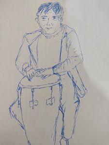 Guy playing drum