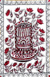 Madhubani style candle