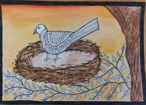 Bird in madhubani style