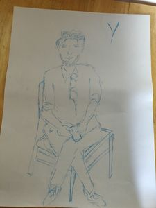 Sitting person