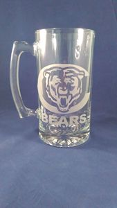 Chicago Bears Mug - Fun Etched Glass