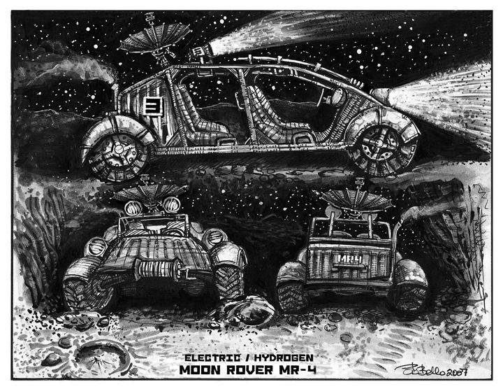 Moon Rover MR-4 - The Sci-Fi World of Bob Bello