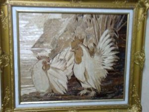 Unique painting (a pair of bantam) s