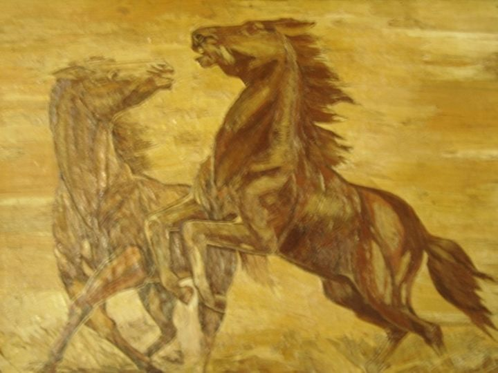 Unique PAINTING a pair of horses fro - gabrielle