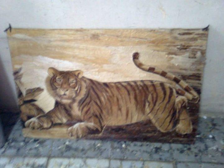Unique painting Sumatran tiger - gabrielle