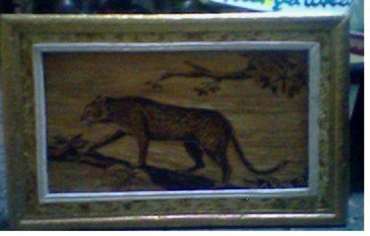 Unique painting Leopard - gabrielle