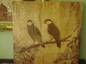 Unique painting a pair of birds