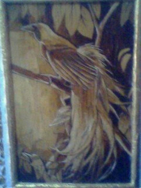 Unique painting bird of paradise - gabrielle
