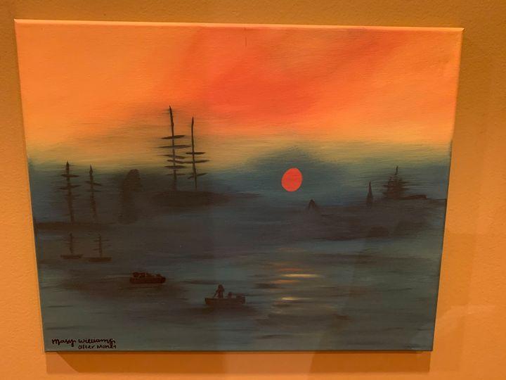 impression sunrise (recreation) - paintings by Mary Luli