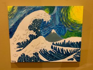 starry night x great wave