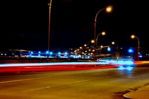 city street long exposure