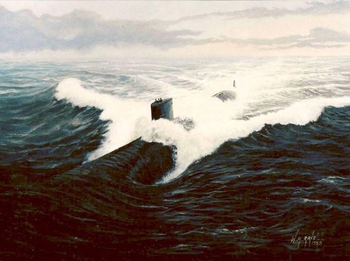 USS San Juan. - RaVell Fine Art Studio