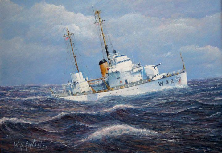 USCG Cutter Sebago takes a roll - RaVell Fine Art Studio