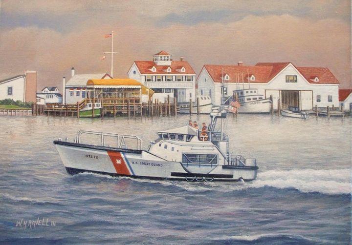 Coast Guard Rescue Boat - RaVell Fine Art Studio