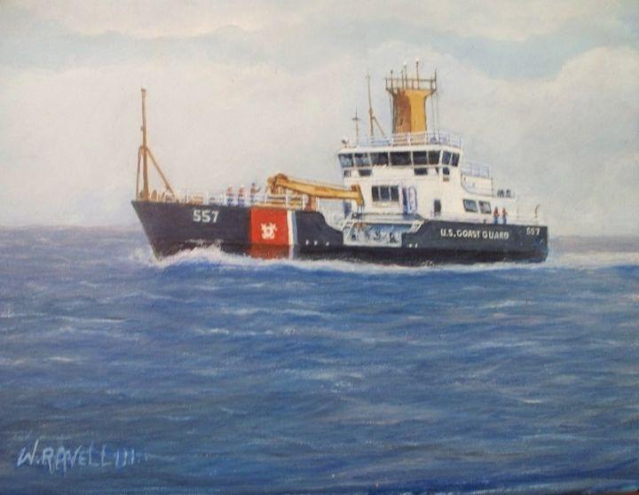 Coast Guard Frank Ward - RaVell Fine Art Studio