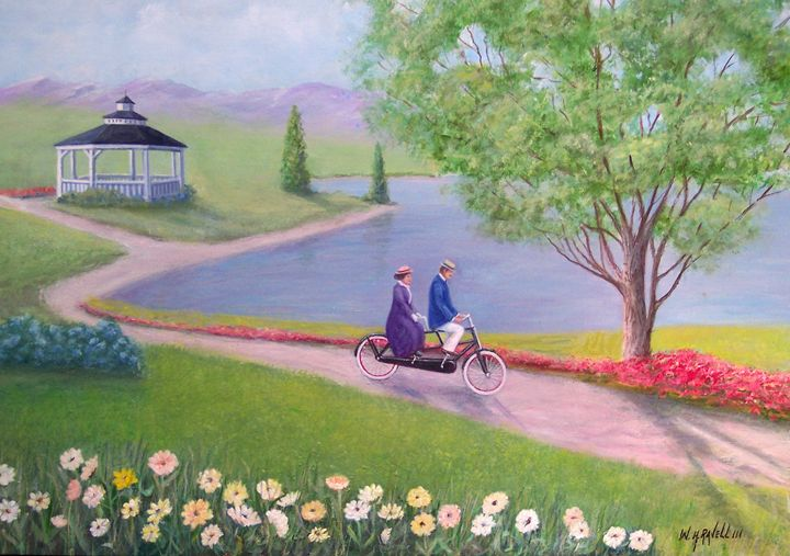 A ride In The Park - RaVell Fine Art Studio