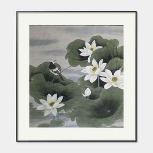 chinese painting  lotus 650*640mm