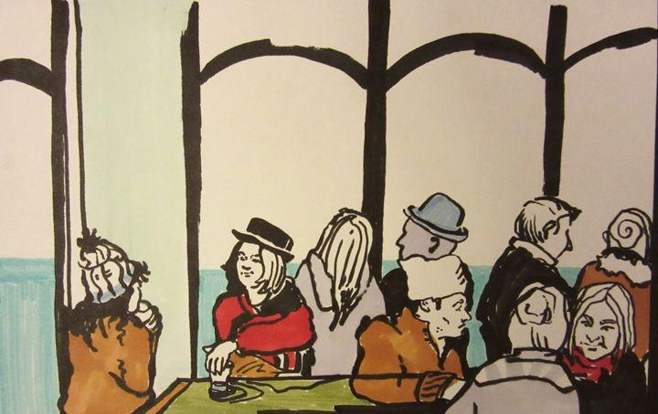 Cafe Alibi, Paris - Cooper's Illustration