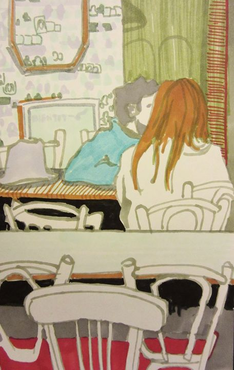 Sketch in Paris - Cooper's Illustration