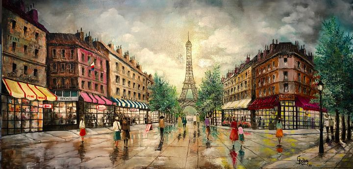 A Day  in  Paris   , by  C Kelley - CHARLES J  KELLEY