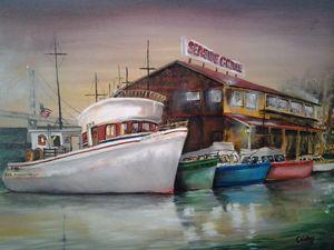 Seaside  Cafe  , by CKelley - CHARLES J  KELLEY