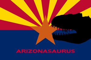 Funny Arizona Dinosaur Flag Art