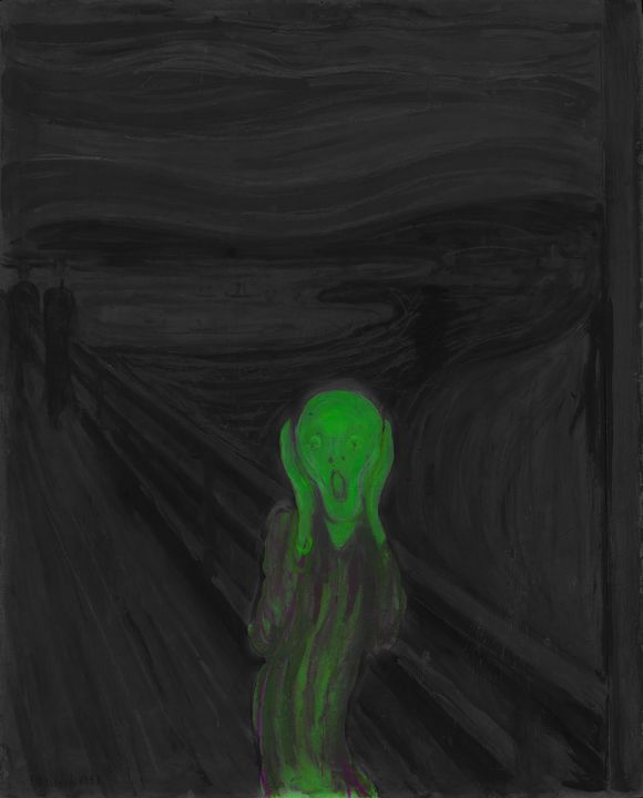 Scary Scream Remastered Green - Brian Kindsvater Art