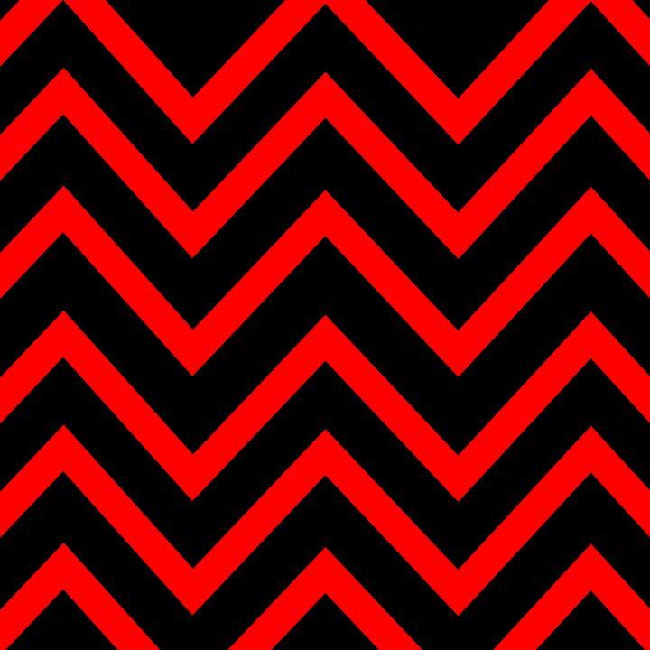 Red and Black Chevron - Brian Kindsvater Art