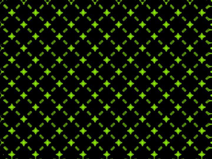 Geometric Green Star Print - Brian Kindsvater Art
