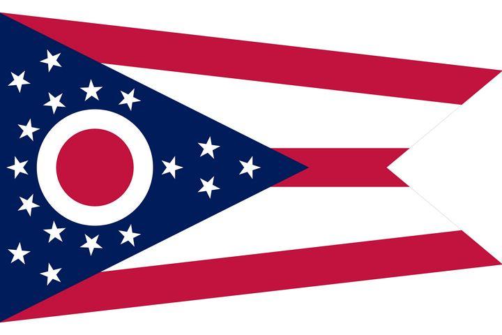 Ohio State Flag Art - Brian Kindsvater Art