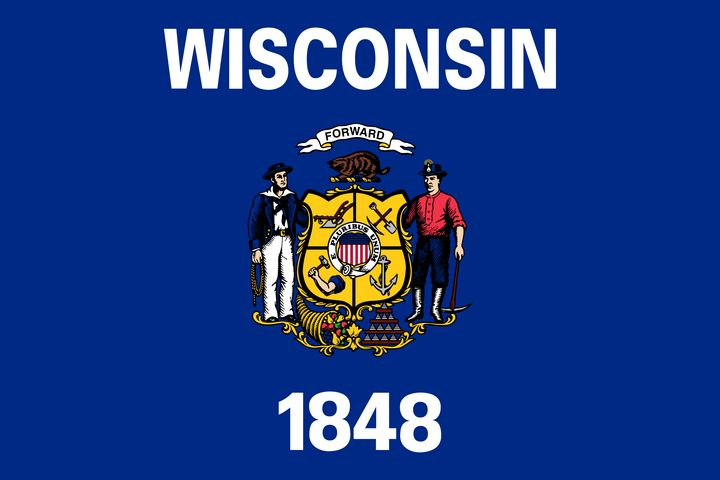 Wisconsin State Flag Art - Brian Kindsvater Art