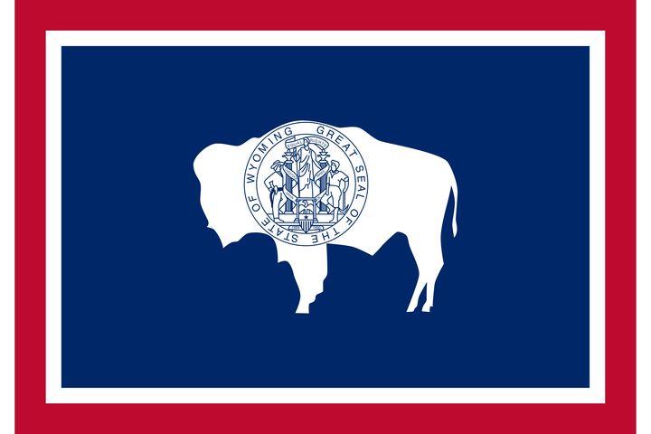 Wyoming State Flag Art - Brian Kindsvater Art