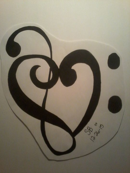 tribal music symbol - Sabrina's paintings