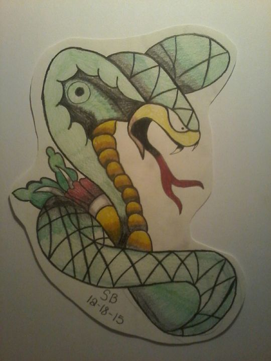 neotraditional snake - Sabrina's paintings
