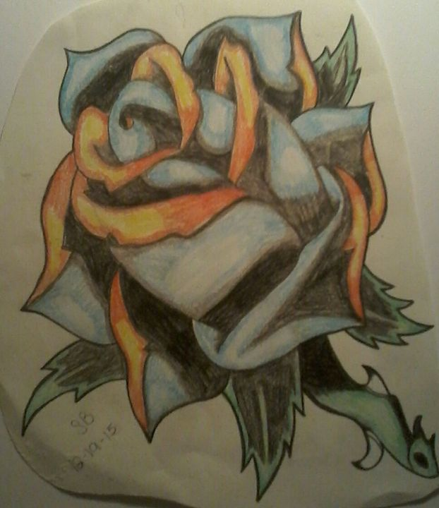 Rose tattoo design - Sabrina's paintings