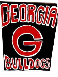 Georgia bulldog painting
