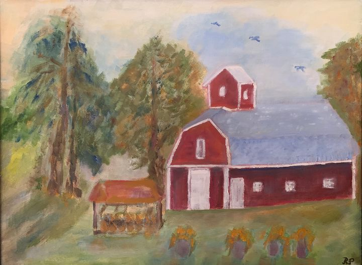 Barn in Converse IN - Panuszka's paintings