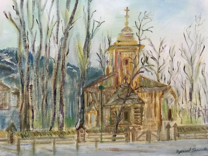Mountain Country Old Church - Panuszka's paintings