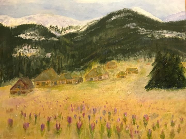 Spring in the Valley - Panuszka's paintings
