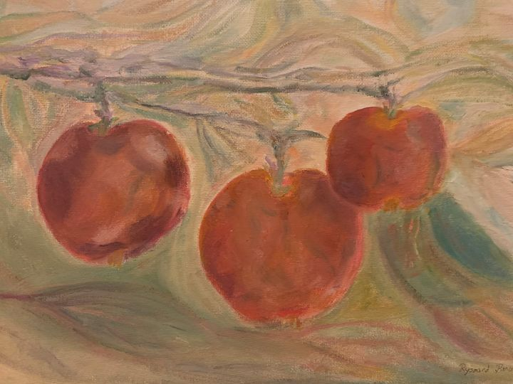 Apple on Branch - Panuszka's paintings