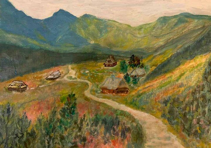 Valley  Gasienicowa in Tatra - Panuszka's paintings