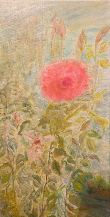 In October Blooming over Pond - Panuszka's paintings