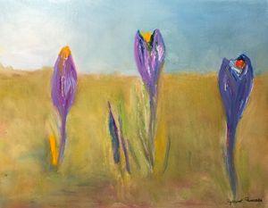 """""""Three crocuses"""" - Panuszka's paintings"""