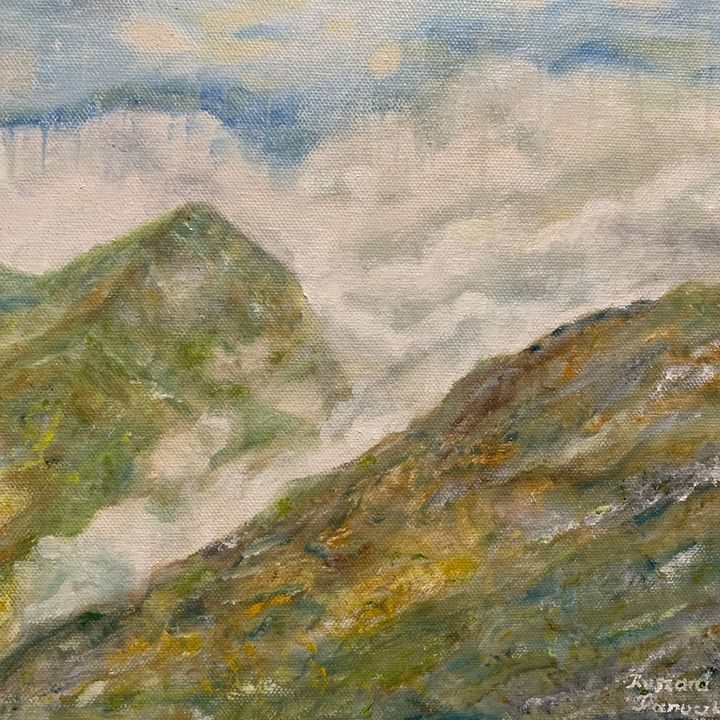 Western Tatra in Clouds and Rain - Panuszka's paintings