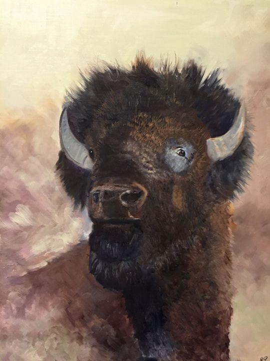 """""""Buffalo Head"""" - Panuszka's paintings"""