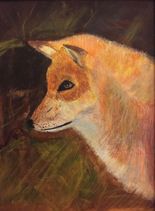 Head of Fox - Panuszka's paintings