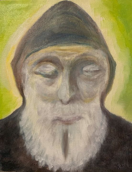 "St. Charbel - ""Holy Man"" - Panuszka's paintings"
